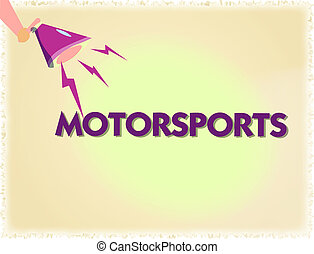 Word writing text Motorsports. Business concept for...