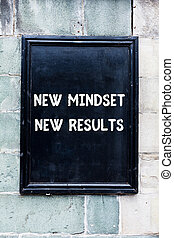 Word writing text New Mindset New Results. Business concept for obstacles are opportunities to reach achievement.
