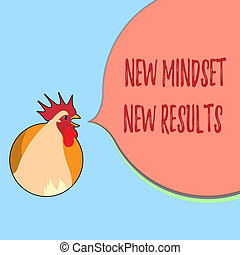 Word writing text New Mindset New Results. Business concept for Open to Opportunities No Limits Think Bigger