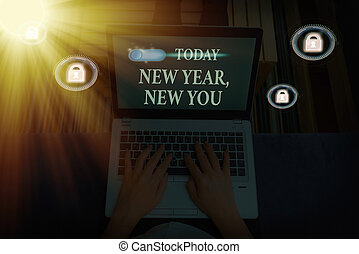 Word writing text New Year, New You. Business concept for coming January Changing an individualality for a better an individual.