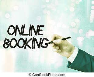 Word writing text Online Booking. Business concept for tool ...