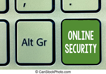 Word writing text Online Security. Business concept for rules to protect against attacks over the Internet