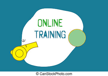Word writing text Online Training. Business concept for Take...