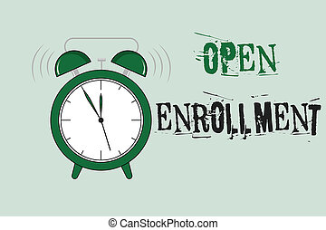 Word writing text Open Enrollment. Business concept for The...