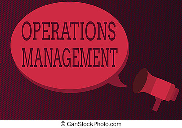 Word writing text Operations Management. Business concept...