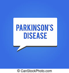 Word writing text Parkinson s is Disease. Business concept...