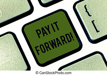 Essay about pay it forward