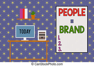 Word writing text People Brand. Business concept for ...