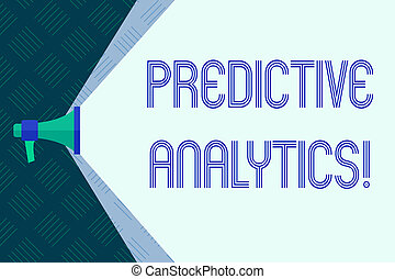 Word writing text Predictive Analytics. Business concept for...