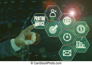 Word writing text Printing Service. Business concept for ...