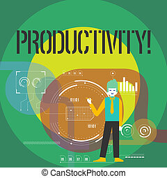 Word writing text Productivity. Business concept for ...