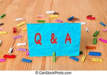 Word writing text Q And A Question. Business concept for in ...