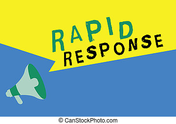 Word writing text Rapid Response. Business concept for...