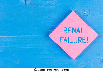 Word writing text Renal Failure. Business concept for...