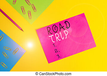 Word writing text Road Trip. Business concept for Roaming ...