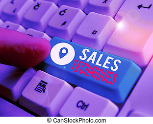 Word writing text Sales Techniques. Business concept for ...