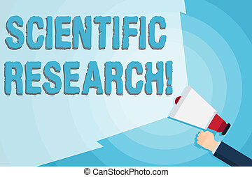 Word writing text Scientific Research. Business concept for...
