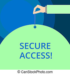 Word writing text Secure Access. Business concept for ...