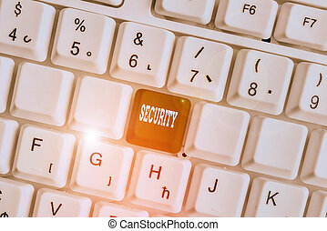 Word writing text Security. Business concept for The state ...