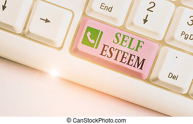 Word writing text Self Esteem. Business concept for a ...