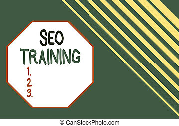 Word writing text Seo Training. Business concept for learn ...