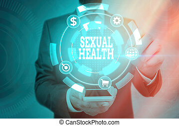 Word writing text Sexual Health. Business concept for ...