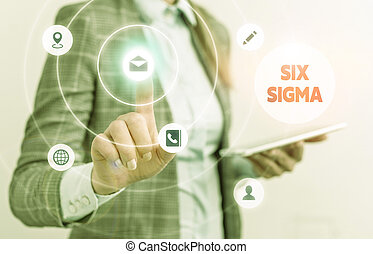 Word writing text Six Sigma. Business concept for set of ...