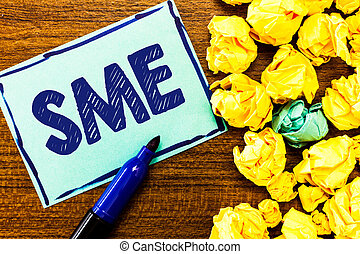 Word writing text Sme. Business concept for Company with no more than 500 employees Small medium enterprise