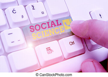 Word writing text Social Science. Business concept for ...