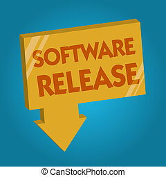 Word writing text Software Release. Business concept for sum...