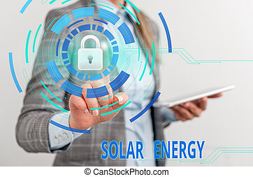 Word writing text Solar Energy. Business concept for ...