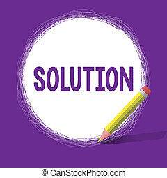 Word writing text Solution. Business concept for means of solving problem or dealing with difficult situation