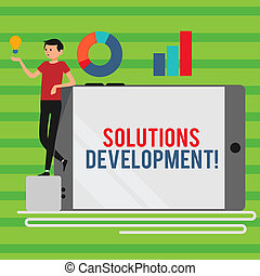 Word writing text Solutions Development. Business concept ...