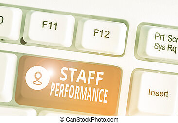Word writing text Staff Perforanalysisce. Business concept ...
