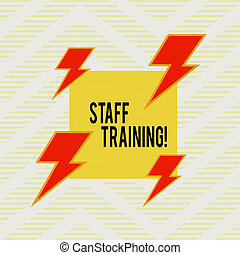 Word writing text Staff Training. Business concept for learn...