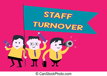 Word writing text Staff Turnover. Business concept for The ...