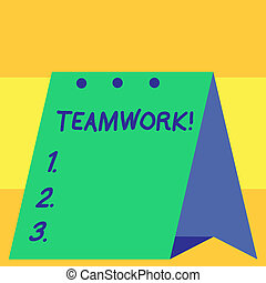 Word writing text Teamwork. Business concept for combined action of group especially when effective and efficient.