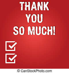 Word writing text Thank You So Much. Business concept for Expression of Gratitude Greetings of Appreciation Blank Color Rectangular Shape with Round Light Beam Glowing in Center.