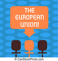 Word writing text The European Union. Business concept for ...