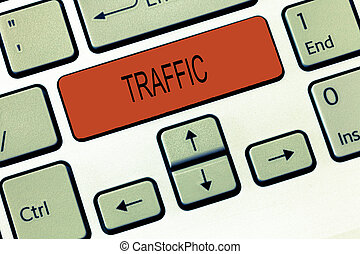 Word writing text Traffic. Business concept for Vehicles moving on public highway Automobile motion Transport