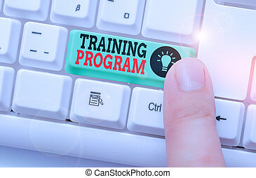 Word writing text Training Program. Business concept for ...