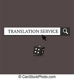 Word writing text Translation Service. Business concept for...