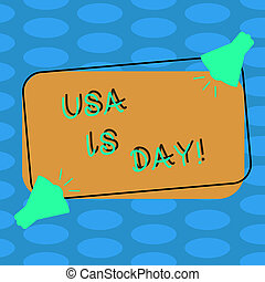 Word writing text Usa Memorial Day. Business concept for Federal holiday remembering showing who died while serving Two Megaphone with Sound icon on Blank Color Outlined Rectangular Shape.