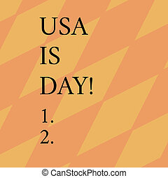 Word writing text Usa Memorial Day. Business concept for Federal holiday remembering showing who died while serving Geometrical Blank Color Diamond Shape in Diagonal Seamless Pattern.