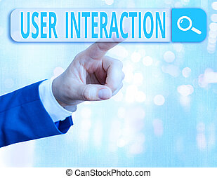 Word writing text User Interaction. Business concept for the...