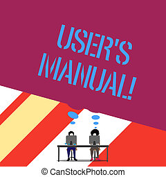 Word writing text User S Is Manual. Business concept for Contains all essential information of the product.