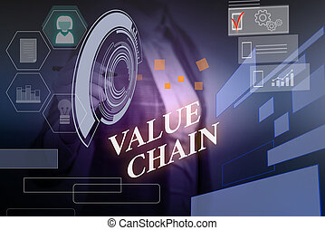 Word writing text Value Chain. Business concept for Business...