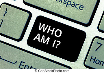 Word writing text Who Am I. Business concept for Introduce ...