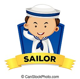 wordcard, marinheiro, ocupação