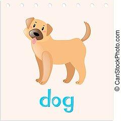 wordcard, peu, chien